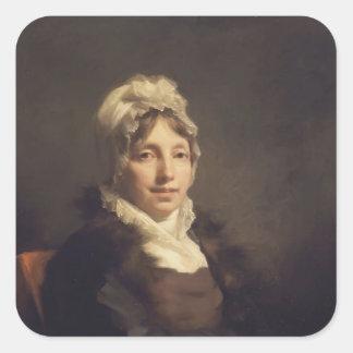 Henry Raeburn- Ann Fraser, Mrs. Alexander Tytler Square Sticker