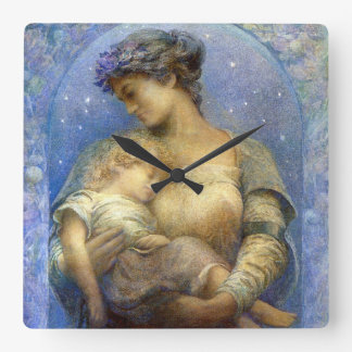 Henry Raymond Thompson: O Holy Night Square Wall Clock