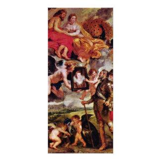 Henry recibe el retrato de Maria De Medici cerca Tarjeta Publicitaria Personalizada