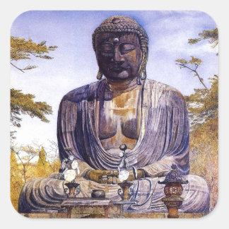 Henry Roderick Newman: Daibutsu at Kamakura, Japa Square Sticker