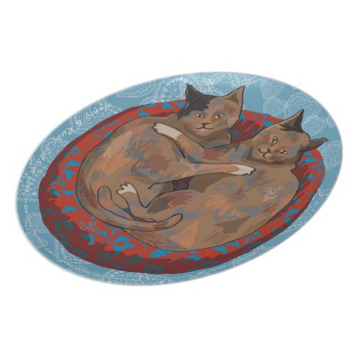 Henry & Ruby: Cats in Love (Decorative Plate)