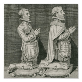 Henry Stuart, Lord Darnley and his brother Poster