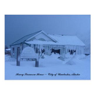 Henry Swanson House in Winter Postcard
