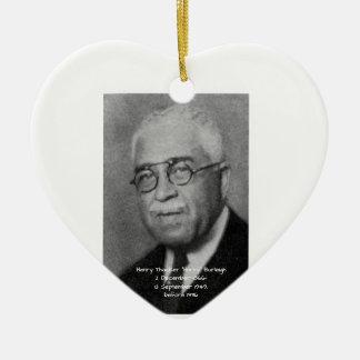 "Henry Thacker ""Harry"" Burleigh Ceramic Ornament"