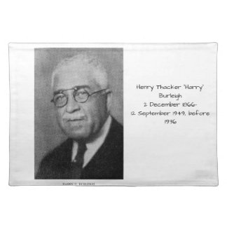 """Henry Thacker """"Harry"""" Burleigh Cloth Placemat"""