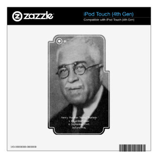 """Henry Thacker """"Harry"""" Burleigh Decal For iPod Touch 4G"""