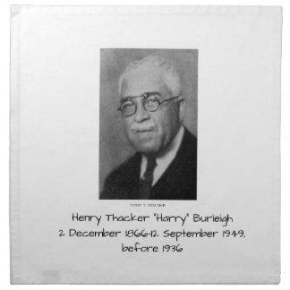 """Henry Thacker """"Harry"""" Burleigh Napkin"""