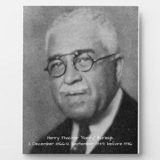 "Henry Thacker ""Harry"" Burleigh Plaque"