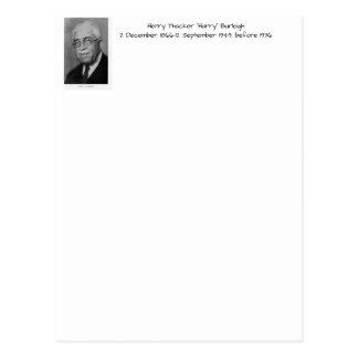 "Henry Thacker ""Harry"" Burleigh Postcard"