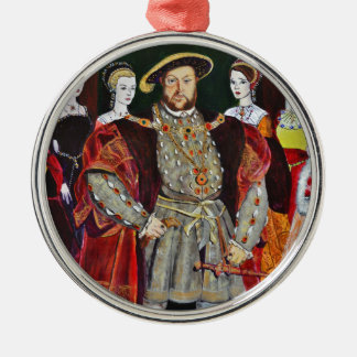 Henry The Eighth and His Six Wives Metal Ornament