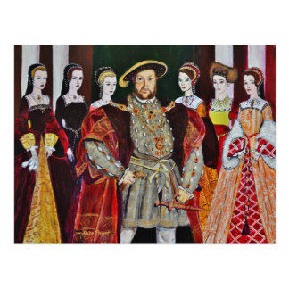 Henry The Eighth and His Six Wives Postcard