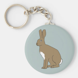 Henry the Hare Button Keyring by Rupert & Poppy Basic Round Button Keychain