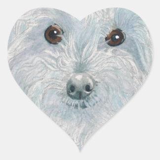 Henry the Maltipoo Heart Sticker