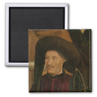 Henry the Navigator  detail from the Polyptych 2 Inch Square Magnet