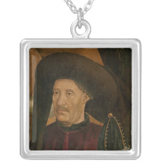 Henry the Navigator  detail from the Polyptych Silver Plated Necklace