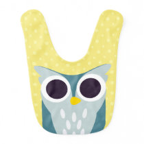 Henry the Owl Baby Bib