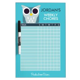 Henry the Owl Chore Chart Dry-Erase Board