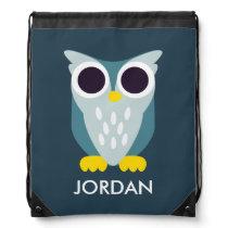Henry the Owl Drawstring Bag