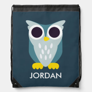 Henry the Owl Drawstring Bags