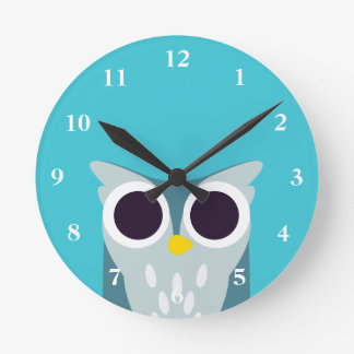 Henry the Owl Round Clock