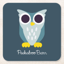 Henry the Owl Square Paper Coaster