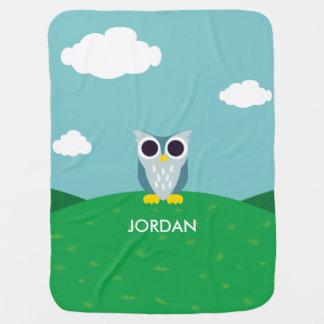 Henry the Owl Stroller Blanket