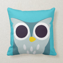 Henry the Owl Throw Pillow