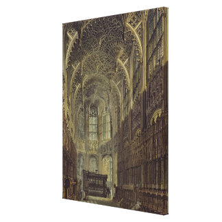 Henry the Seventh Chapel, plate 8 from 'Westminste Canvas Print