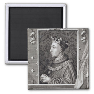 Henry V (1387-1422), after a painting in Kensingto 2 Inch Square Magnet