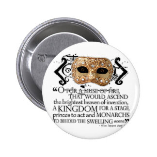 Henry V Quote Pinback Button