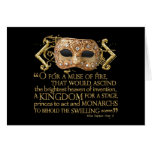 Henry V Quote (Gold Version) Card