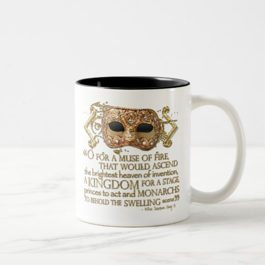 Henry V Quote (Gold Version) Two-Tone Coffee Mug