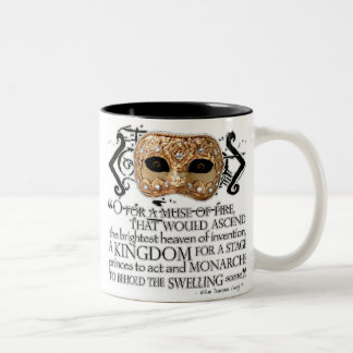 Henry V Quote Two-Tone Coffee Mug