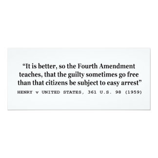 HENRY v UNITED STATES 361 US 98 1959 4th Amendment Announcements