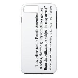HENRY v UNITED STATES 361 US 98 1959 4th Amendment iPhone 7 Plus Case