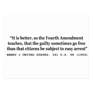 4th Amendment Postcards | Zazzle