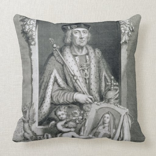 Henry VII (1457-1509) King of England from 1485, a Pillows
