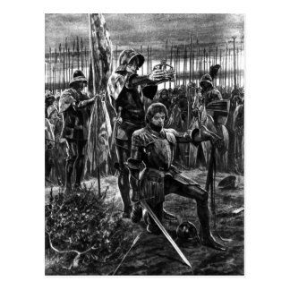 Henry VII at Bosworth Postcard