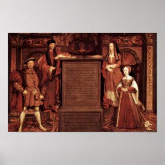 Henry Vii, Elizabeth de York, Enrique VIII y Jane Póster