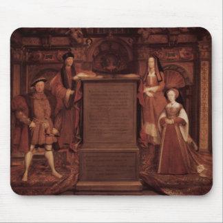 Henry VII&VIII,Elisabeth,Jane by Hans Holbein Mousepads