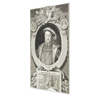 Henry VIII (1491-1547), after a painting in the Ro Canvas Print