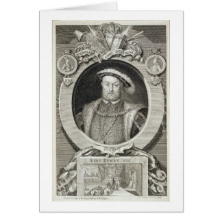 Henry VIII (1491-1547), after a painting in the Ro Card