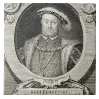 Henry VIII (1491-1547), after a painting in the Ro Ceramic Tile