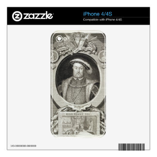 Henry VIII (1491-1547), after a painting in the Ro Decals For The iPhone 4