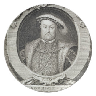 Henry VIII (1491-1547), after a painting in the Ro Dinner Plate