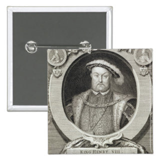 Henry VIII (1491-1547), after a painting in the Ro Pinback Button