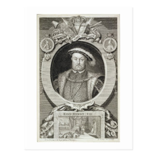 Henry VIII (1491-1547), after a painting in the Ro Postcard