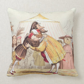 Henry VIII (1491-1547) and Francis I of France (14 Throw Pillow