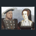 """Henry VIII and Ann Boleyn Cloth Placemat<br><div class=""""desc"""">Image of Henry VIII and His wife Ann Boleyn with Dover castle in the background Design by Richard Hiatt</div>"""