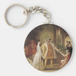 Henry VIII and Anne Boleyn Basic Round Button Keychain